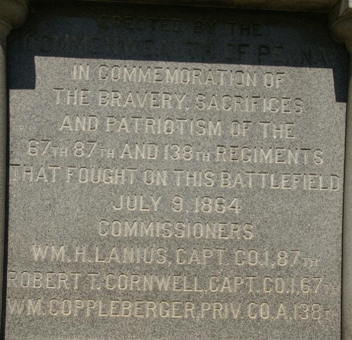 Pennsylvania soldiers monument plaque image