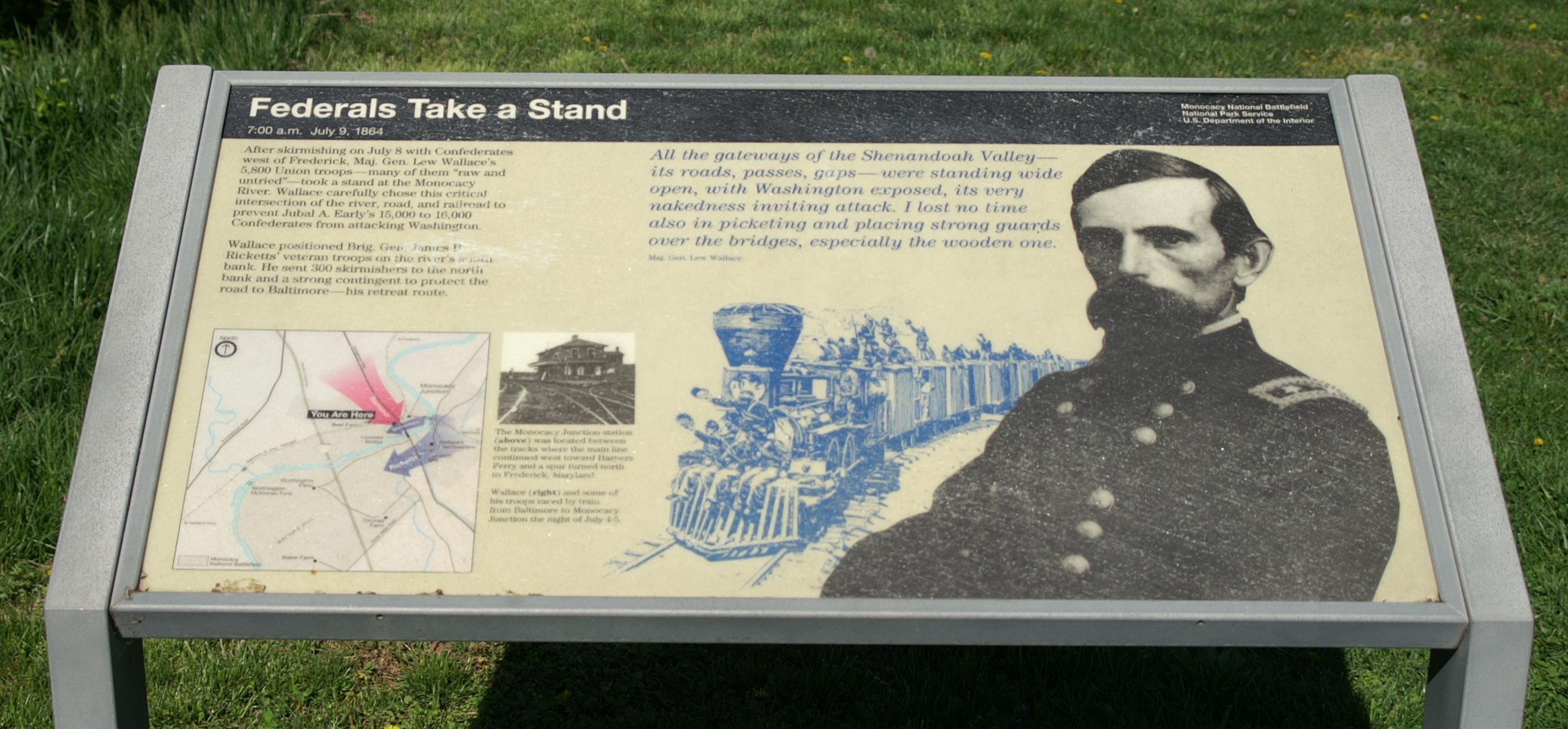 informative sign about the Battle to save Washington, D.C.